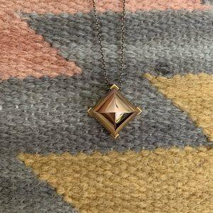 BCBG pyramid necklace